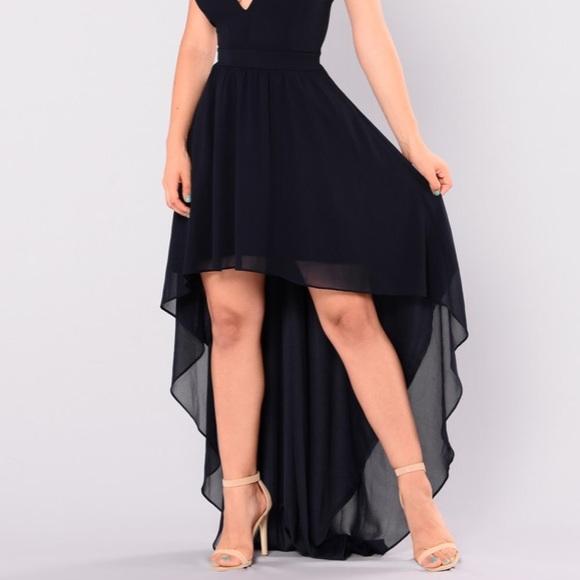 2979a586a14c Fashion Nova Dresses | Short To Long Navy Blue Prom Dress | Poshmark